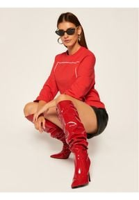 Love Moschino - LOVE MOSCHINO Bluza W637104E 2182 Czerwony Regular Fit. Kolor: czerwony