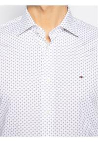Biała koszula casual Tommy Hilfiger Tailored z nadrukiem