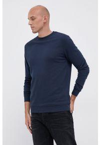 Resteröds - Bluza. Okazja: na co dzień. Kolor: niebieski. Materiał: bawełna, dzianina, włókno. Wzór: gładki. Styl: casual