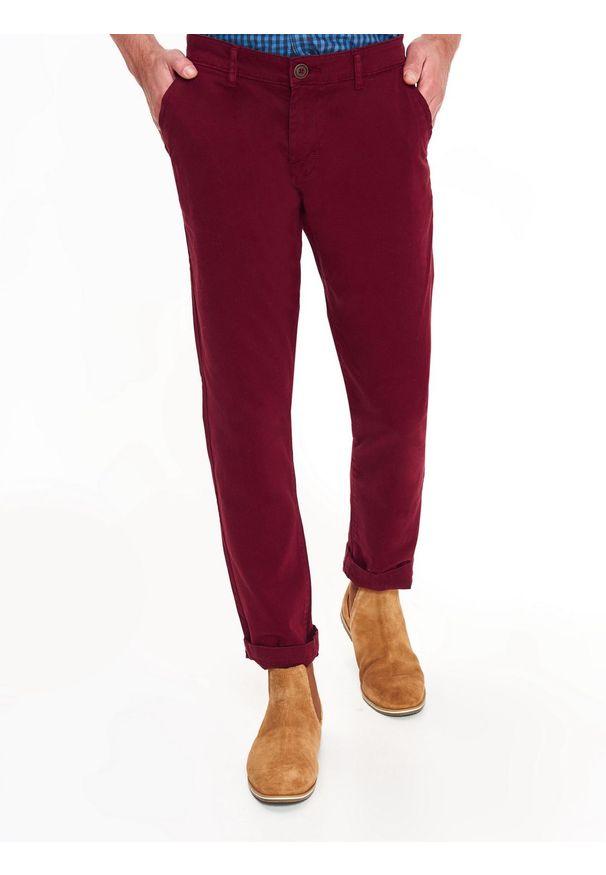 Czerwone spodnie TOP SECRET na co dzień, na zimę, klasyczne