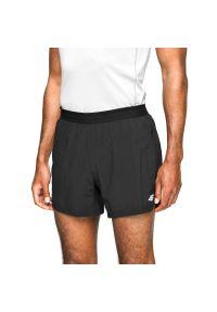 4f - Spodenki męskie do biegania 4F H4L21-SKMF011. Kolor: czarny. Materiał: tkanina, poliester, materiał, elastan. Sport: fitness, bieganie