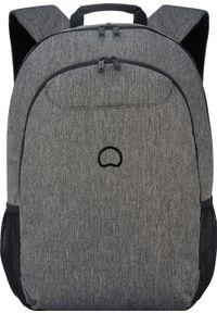 Szary plecak na laptopa Delsey