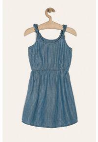 Niebieska sukienka Guess Jeans z aplikacjami, rozkloszowana