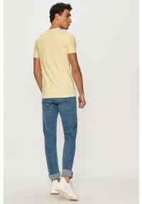 Żółty t-shirt Pepe Jeans z nadrukiem