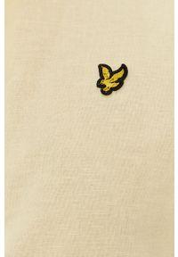 Lyle & Scott - Koszula. Okazja: na co dzień. Typ kołnierza: button down. Kolor: żółty. Materiał: len, tkanina, bawełna. Długość rękawa: długi rękaw. Długość: długie. Wzór: gładki, aplikacja. Styl: casual #4