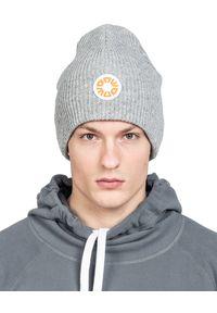 ROBERT KUPISZ - Szara wełniana czapka NOW BEANIE. Kolor: szary. Materiał: wełna. Sezon: zima