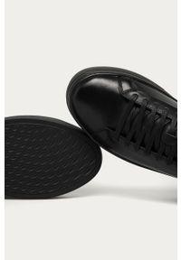 Czarne buty sportowe vagabond na sznurówki, z cholewką, z okrągłym noskiem