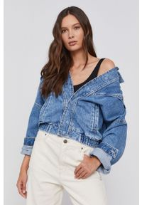 Pepe Jeans - Kurtka jeansowa bawełniana Jacky. Kolor: niebieski. Materiał: bawełna