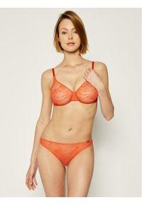 Gossard Biustonosz z fiszbiną Glossies Lace 13001 Pomarańczowy. Kolor: pomarańczowy #3
