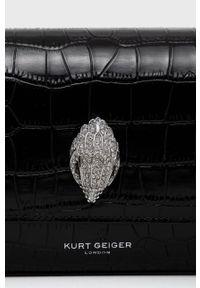 Kurt Geiger London - Kopertówka skórzana. Kolor: czarny. Materiał: skórzane