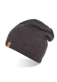 Szara czapka BRODRENE z aplikacjami, na zimę