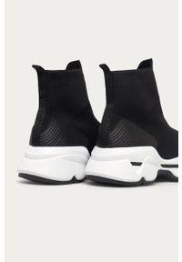 Czarne buty sportowe Answear Lab z cholewką, na średnim obcasie