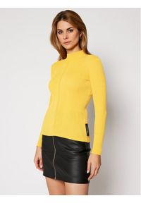 Patrizia Pepe Bluzka 2M3936/A7P6 -390 Żółty Slim Fit. Kolor: żółty