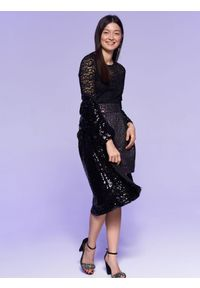 Fioletowa spódnica TOP SECRET elegancka, na jesień