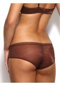 Gossard Bokserki Glossies 6274 Brązowy. Kolor: brązowy