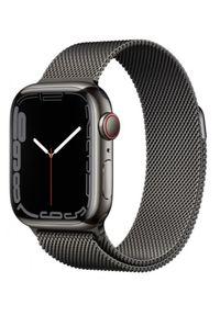 APPLE - Smartwatch Apple Watch 7 GPS+Cellular 41mm stal, grafit | grafitowa bransoleta mediolańska. Rodzaj zegarka: smartwatch. Kolor: szary