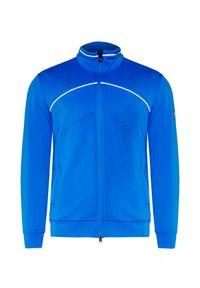 Niebieska bluza Chervo elegancka, w prążki