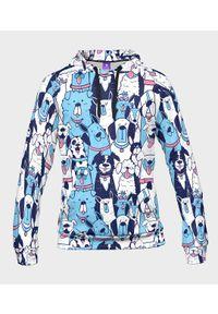 MegaKoszulki - Bluza męska fullprint z kapturem Blue Dogs. Typ kołnierza: kaptur. Materiał: dresówka, dzianina