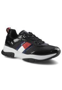 Sneakersy TOMMY HILFIGER Low Cut Lace-Up T3A4-31179-1022999 Black 999. Materiał: jeans, skóra ekologiczna, materiał. Szerokość cholewki: normalna. Styl: sportowy
