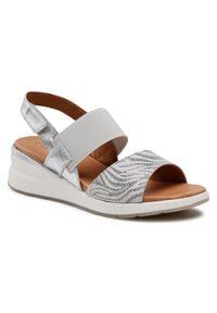 Srebrne sandały Caprice