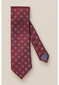 Eton - ETON - Krawat. Kolor: czerwony