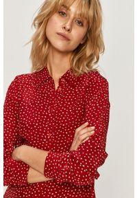 Czerwona koszula Pepe Jeans długa, na co dzień, z klasycznym kołnierzykiem, klasyczna