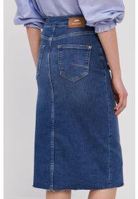Niebieska spódnica Mos Mosh z podwyższonym stanem, na co dzień, casualowa