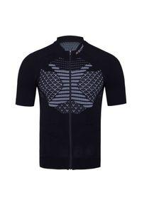 Czarna koszulka termoaktywna X-Bionic z dekoltem woda