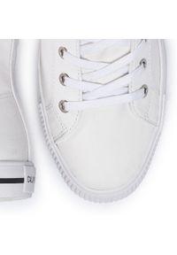 Białe półbuty Calvin Klein Jeans na co dzień, z cholewką, eleganckie