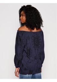 Desigual Bluzka Carla 21SWBW25 Granatowy Regular Fit. Kolor: niebieski