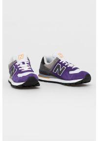 New Balance - Buty ML574DTB. Zapięcie: sznurówki. Kolor: fioletowy. Materiał: guma. Model: New Balance 574