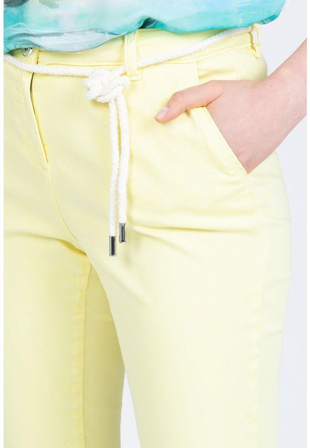 Żółte spodnie Monnari na co dzień, eleganckie