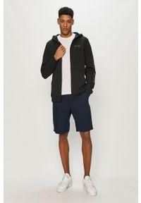 Czarna bluza rozpinana columbia z kapturem, na co dzień, w jednolite wzory, casualowa