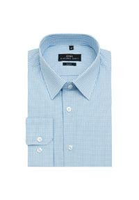 Niebieska koszula Giacomo Conti casualowa, w kratkę, na co dzień