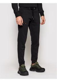 Superdry Spodnie dresowe Classic M7010094A Czarny Regular Fit. Kolor: czarny. Materiał: dresówka