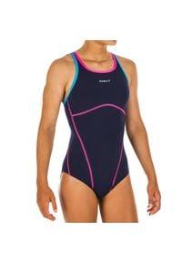 NABAIJI - Strój jednoczęściowy pływacki Kamiye+ dla dzieci. Kolor: niebieski. Materiał: poliamid, materiał, poliester