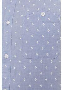 Tom Tailor - Koszula. Typ kołnierza: kołnierzyk włoski. Kolor: niebieski. Materiał: tkanina. Długość rękawa: krótki rękaw. Długość: krótkie