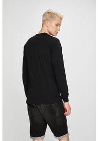 Czarna koszulka z długim rękawem Vans z nadrukiem, casualowa