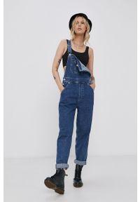 Tommy Jeans - Ogrodniczki. Okazja: na co dzień. Kolor: niebieski. Styl: casual