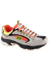 Szare sneakersy skechers z cholewką