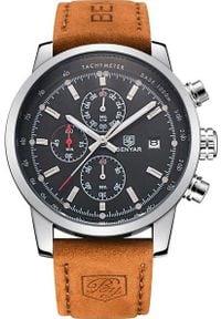 Zegarek BENYAR srebrno-czarny (BY5102). Kolor: czarny, srebrny, wielokolorowy