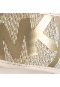 Złote klapki Michael Kors z aplikacjami, klasyczne