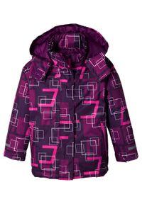 Fioletowy płaszcz bonprix z kapturem #7