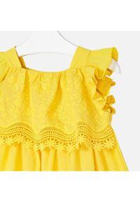 Żółta sukienka Mayoral prosta, casualowa, na co dzień