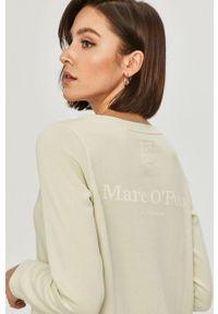 Zielona bluza Marc O'Polo z nadrukiem, na co dzień, casualowa, polo