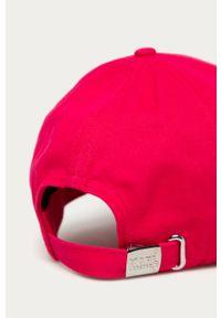 Różowa czapka z daszkiem Karl Lagerfeld z aplikacjami