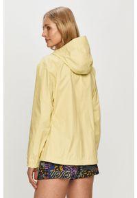 Żółta kurtka Helly Hansen z kapturem, z nadrukiem, casualowa