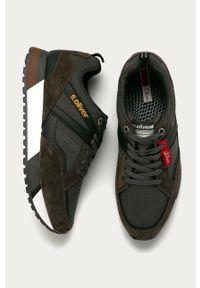 Szare sneakersy s.Oliver z cholewką, na sznurówki, z okrągłym noskiem