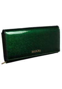 Portfel damski zielony Badura B-8803P-SH. Kolor: zielony. Materiał: skóra