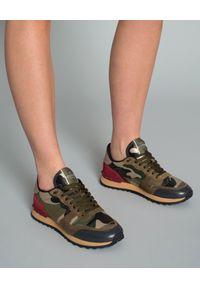 Zielone sneakersy VALENTINO z nadrukiem